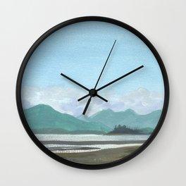 SITKA SOUND 03, Sitka Travel Sketch by Frank-Joseph Wall Clock