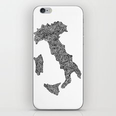 Lettering map of Italy iPhone & iPod Skin