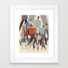 Looking Back Go Forward Framed Art Print