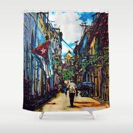 Havana, CUBA No.2   2015 Shower Curtain