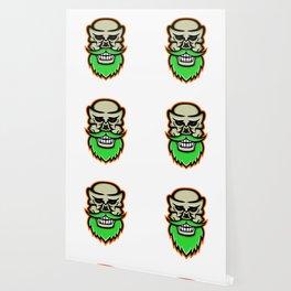 Bearded Skull or Cranium Mascot Wallpaper