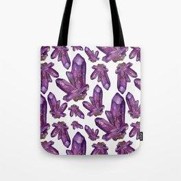 Amethyst Birthstone Watercolor Illustration Tote Bag