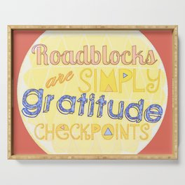Gratitude Checkpoints Serving Tray