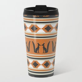Foxes and ethnic shapes Travel Mug