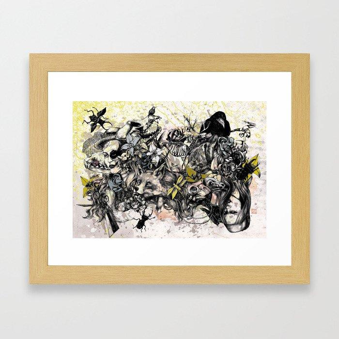 Bugs and Bones Framed Art Print