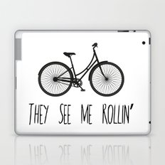 They See Me Rollin' Bicycle - Women's Cruiser City Bike Cycling  Laptop & iPad Skin