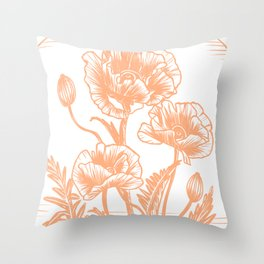 Poppy Potion Throw Pillow