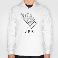 jfk Hoodies featuring JFK Airport Diagram by vidaloft
