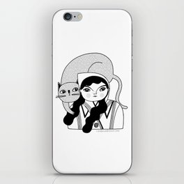 Black & White / Hanging Out With Dot iPhone Skin