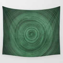 Tree Rings - Jewel Green Wall Tapestry