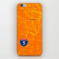 portland iPhone & iPod Skins featuring portland by Larsson Stevensem
