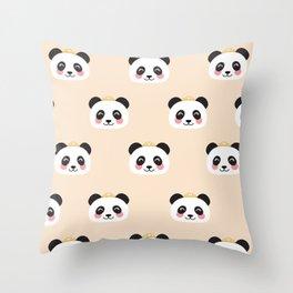 Panda group Throw Pillow