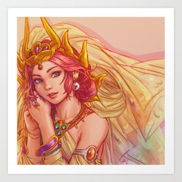 Princess Sarah from Final Fantasy (1987) Art Print