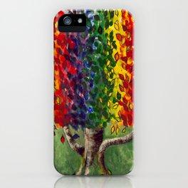 Colorful art, Rainbows and Unicorns, RAINBOW TREE iPhone Case