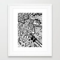 memphis Framed Art Prints featuring Memphis by Andrea Cincotta