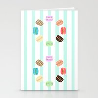macarons Stationery Cards featuring Macarons by ASHEFACE DESIGNS