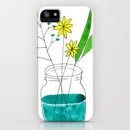 mason jar flower arrangement iPhone Case