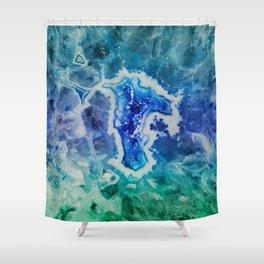 MINERAL MAZE Shower Curtain