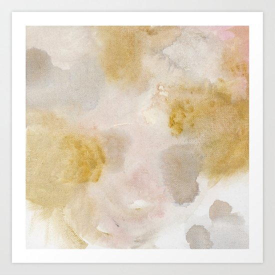 Bloom No. 8 Abstract watercolor floral Art Print