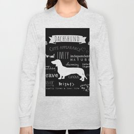 Dachshund black and white Long Sleeve T-shirt