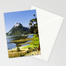 Mitre Peak, MIlford Sound, New Zealand Stationery Cards