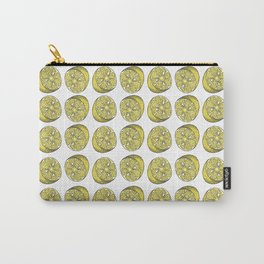 LEMON PATTERN Fruit illustration Carry-All Pouch