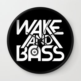 Wake And Bass (White) Wall Clock