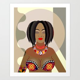 Nubian Queen Art Print