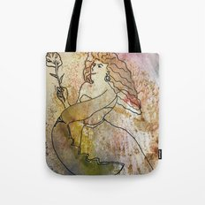 woman with lobster claw Tote Bag