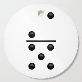 White Domino / Domino Blanco Cutting Board
