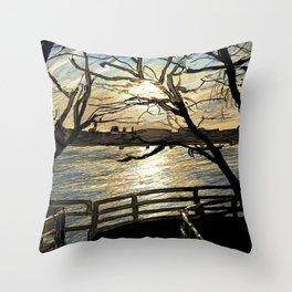Charles River Esplanade 2 Throw Pillow