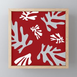 Matisse Silver & Red Holiday Leaves Framed Mini Art Print