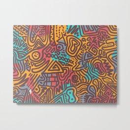 Funky Doodle Metal Print