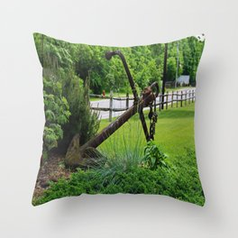 Anchors Aweigh I- horizontal Throw Pillow