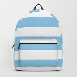 Cornflower - solid color - white stripes pattern Backpack