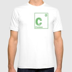 Carbon neutral MEDIUM White Mens Fitted Tee