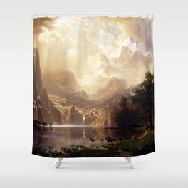 Albert Bierstadt - Among the Sierra Nevada, California Shower Curtain