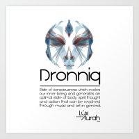 Dronniq Concept by Lüx Aurah Art Print