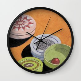 Small bowls n. 4 Wall Clock