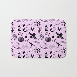 Symbols of Science // Light Pink Bath Mat