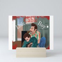 Little Cable Boy Mini Art Print