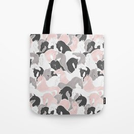 Playing Horses pattern Tote Bag