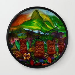 Ka Mala Akua (Garden of the Godʻs) Wall Clock