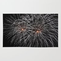 fireworks Area & Throw Rugs featuring Fireworks by Carlo Toffolo