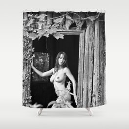 Nude Photography by Mary Bassett Shower Curtain