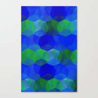 polygon Canvas Prints featuring Polygon by ArtsyWorks
