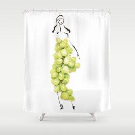 Edible Ensembles: Green Grapes Shower Curtain