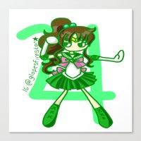 sailor jupiter Canvas Prints featuring Sailor Jupiter by Glopesfirestar