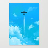 planes Canvas Prints featuring Planes by Ashleigh Jane