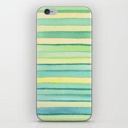Green stripes. iPhone Skin